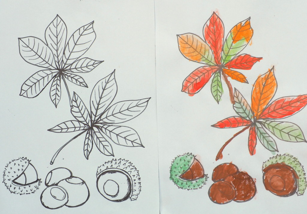 jesien kolorowanka
