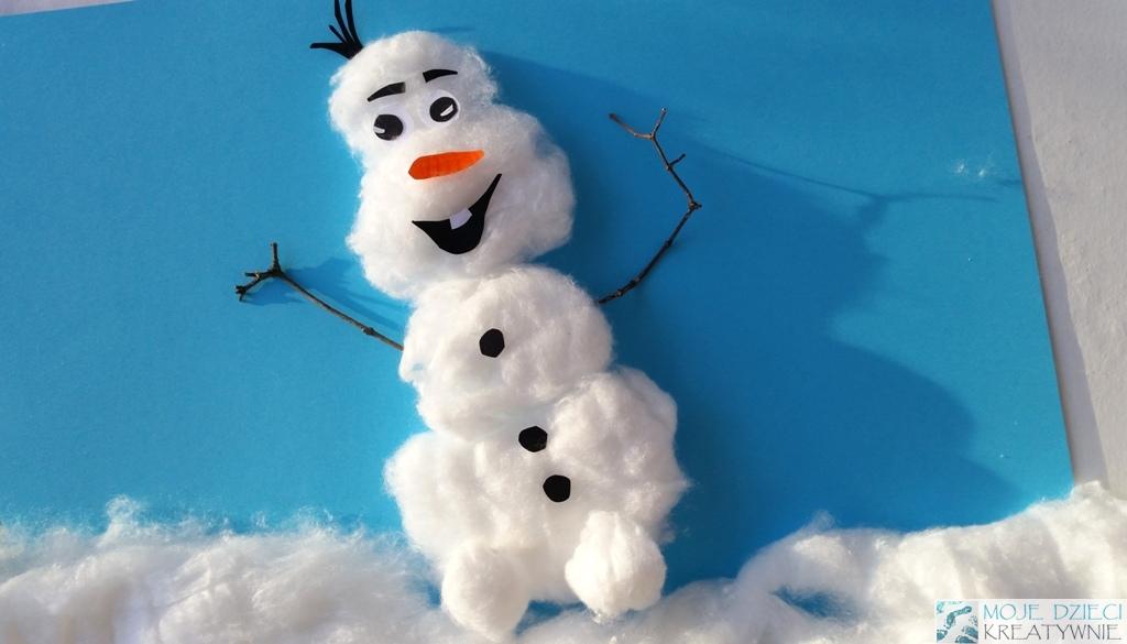 Bałwanek Olaf z waty