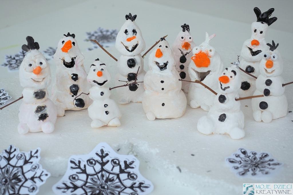 Olaf z krainy lodu praca plastyczna
