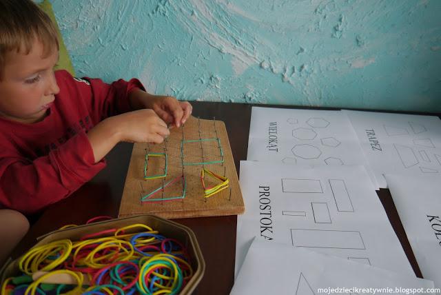 nauka figur dla dzieci zabawy dla dzieci w domu kreatywnie edukacja przedszkolu dwulatka trzylatka