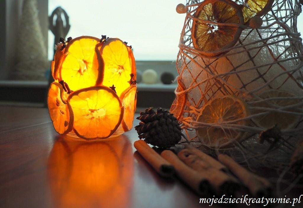 lampion z pomarańczy