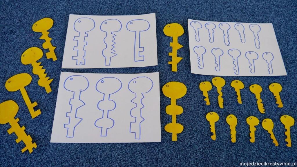 zabawy dla dzieci w przedszkolu w domu kreatywnie edukacyjne klucze szablony