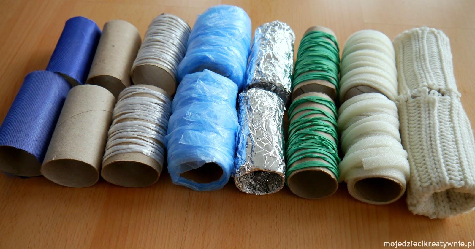 zabawy z rolkami po papierze toaletowym