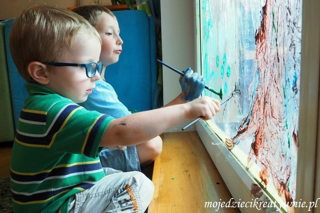 zabawy dla dzieci w domu kreatywnie edukacja przedszkolu dwulatka trzylatka prace plastyczne