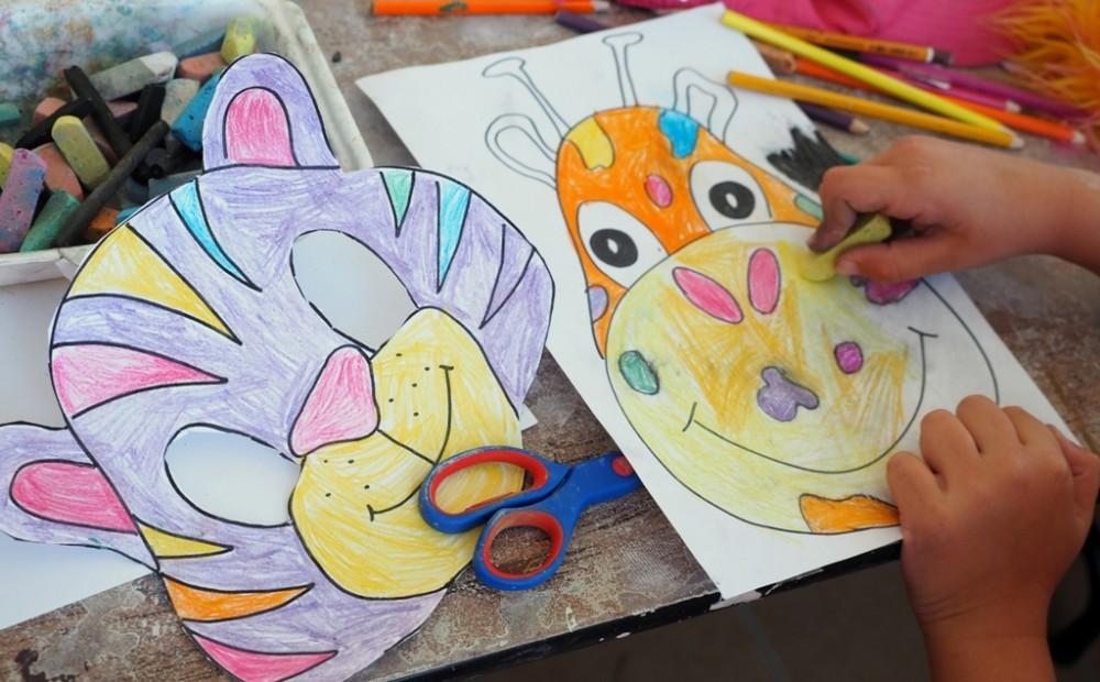 maski zwierzat do druku kolorowania szablony kolorowanki