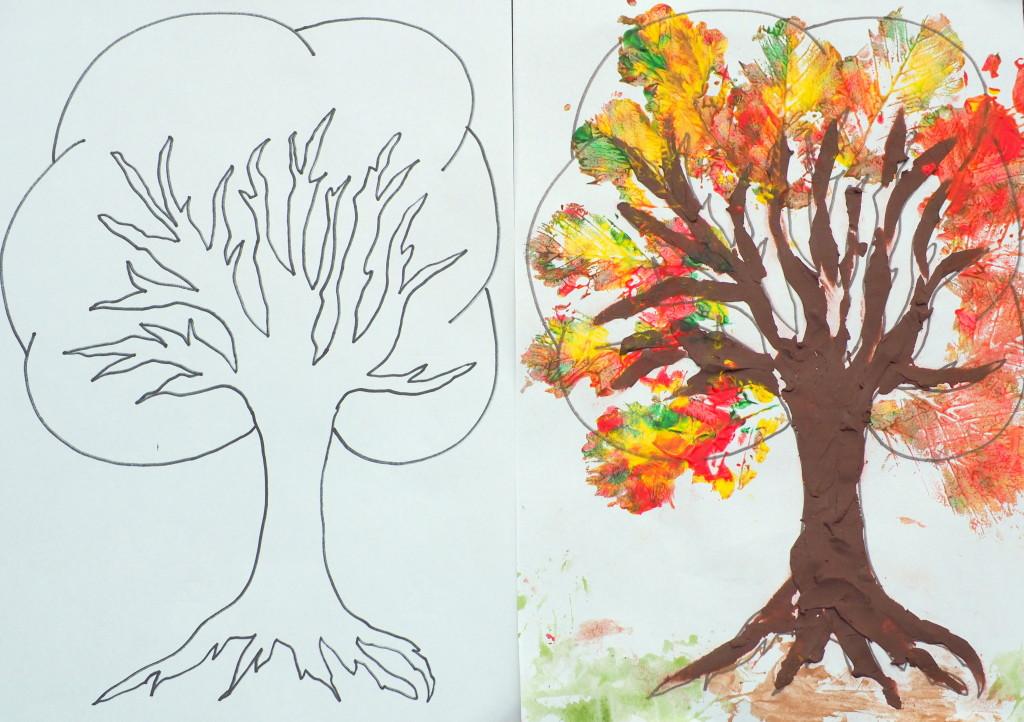 drzewo do kolorowania