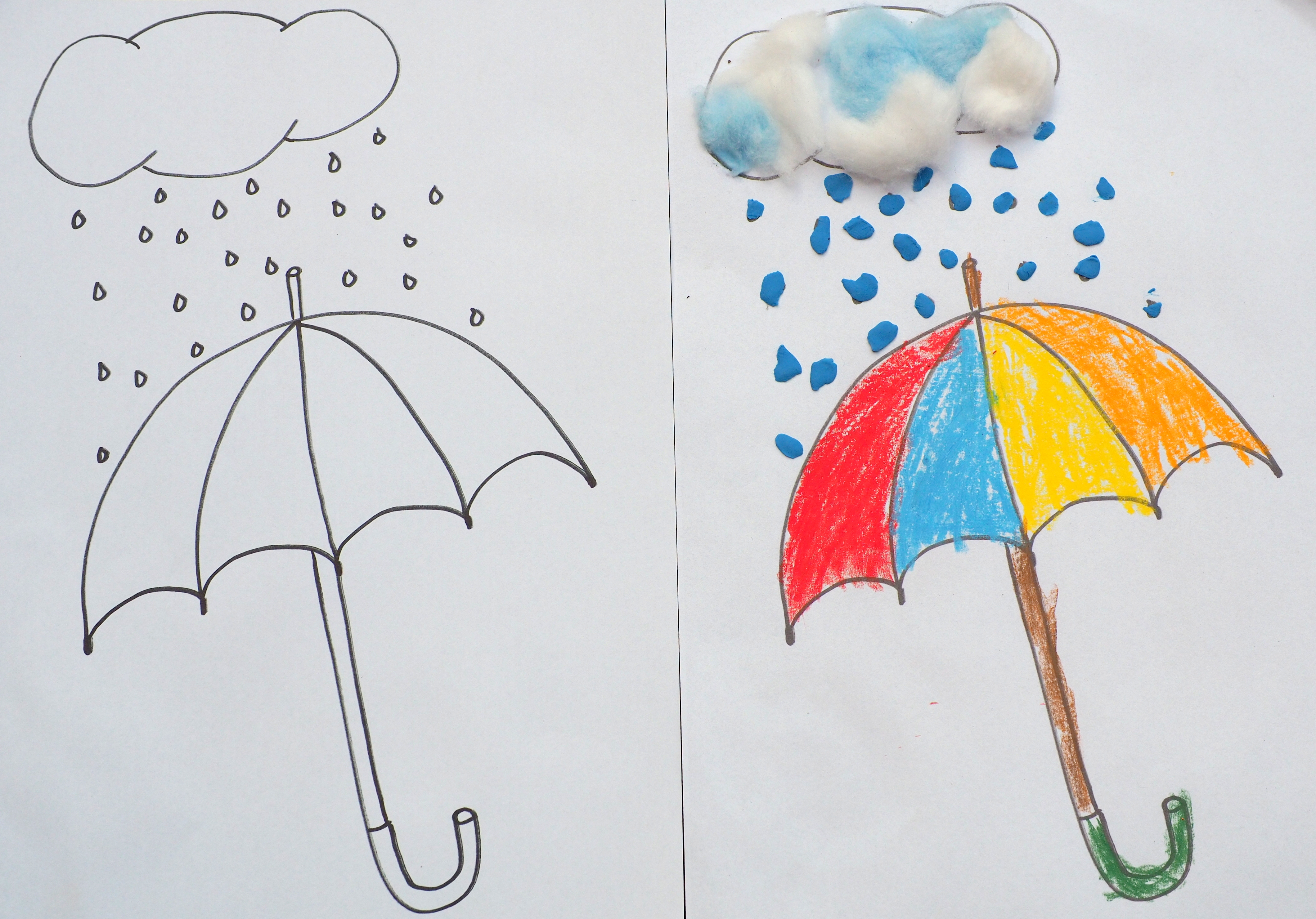 Parasol Do Kolorowania I Wyklejania Moje Dzieci Kreatywnie