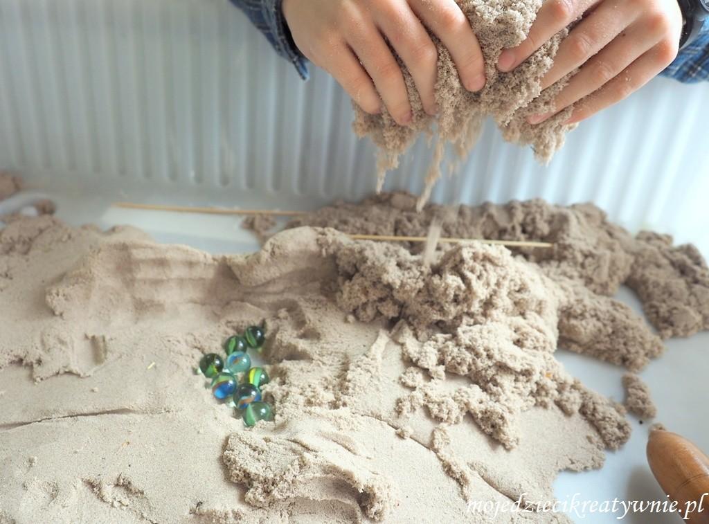 piasek kinetyczny diy jak zrobic przepis opinie zabawy dla dzieci