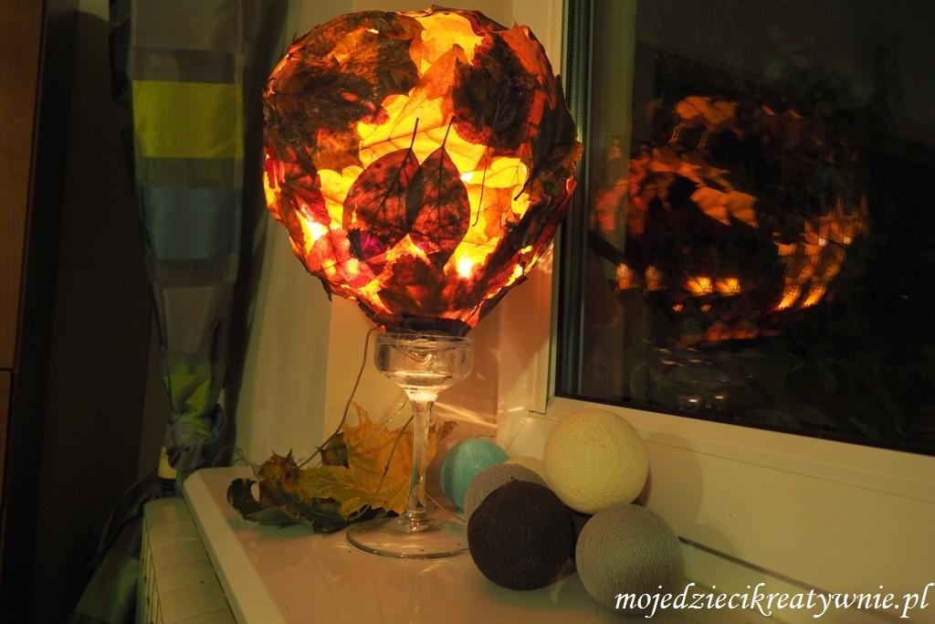 lampa z liści