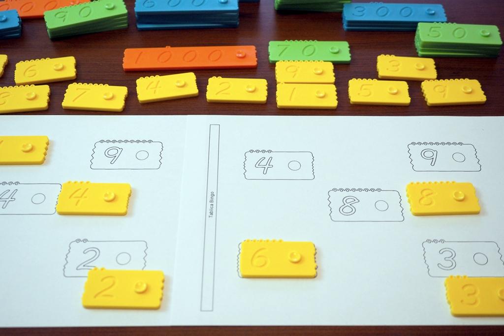 newmero bingo klocki matematyczne edukacyjne plastikowe dla dzieci nauka liczenia zabawy pomoce