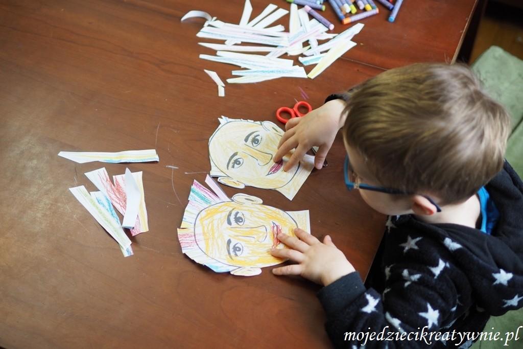 zabawy plastyczne dla dzieci, nauka wycinania