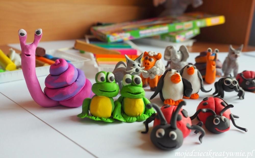 prace plastyczne z plasteliny figurki