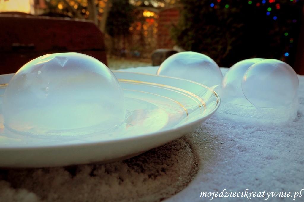 mrożone bańki mydlane