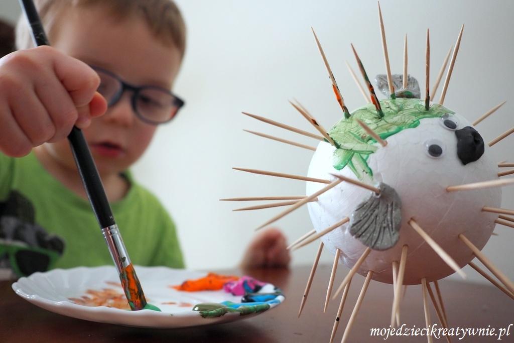 ciekawe prace plastyczne ryba z kolcami