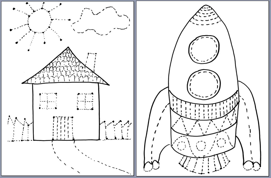 Ćwiczenia grafomotoryczne dla przedszkolaków - Moje Dzieci Kreatywnie