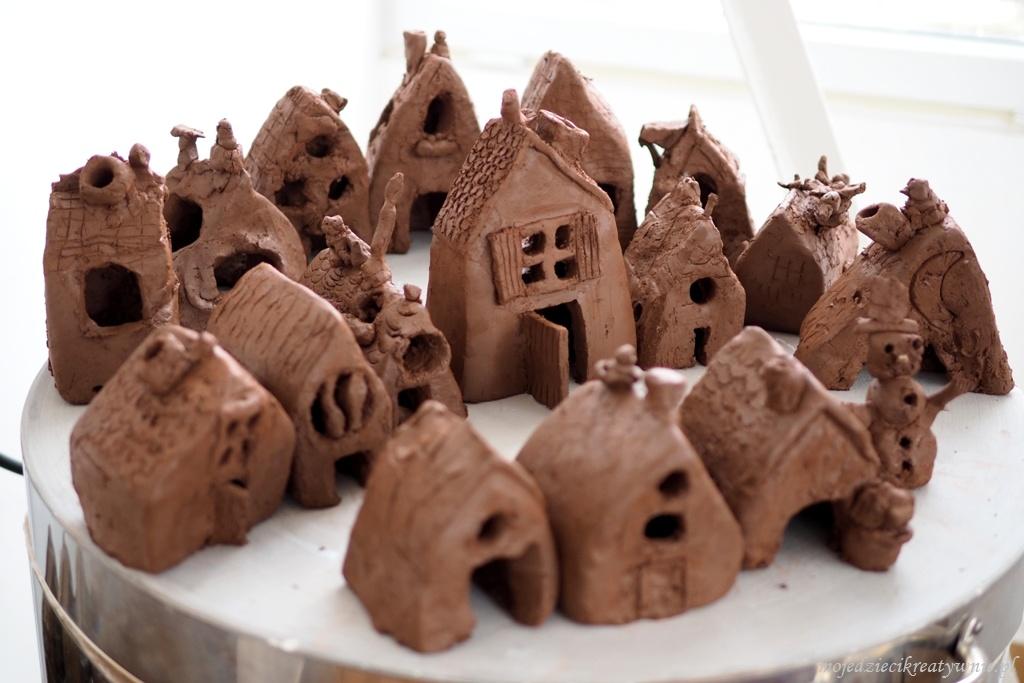 ceramika domki prace plastyczne dla dzieci