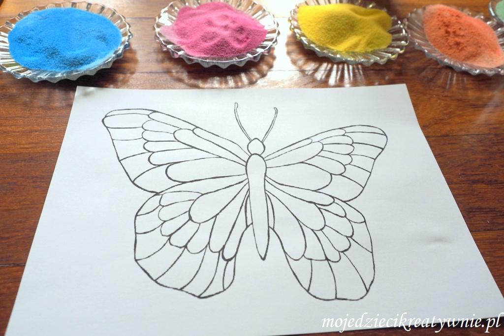 szablon motyla