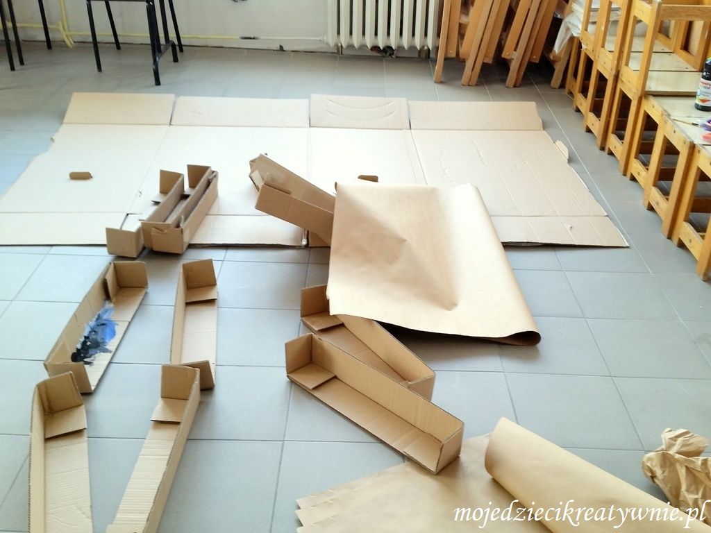prace plastyczne z kartonu