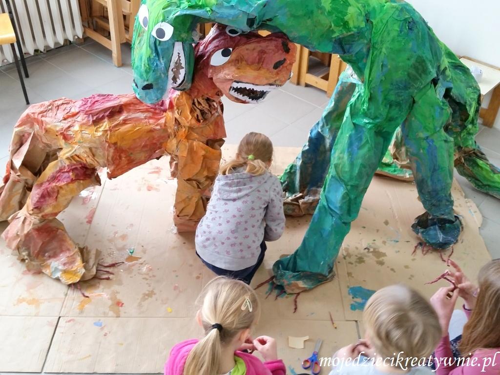 jak zrobic dinozaura z papieru