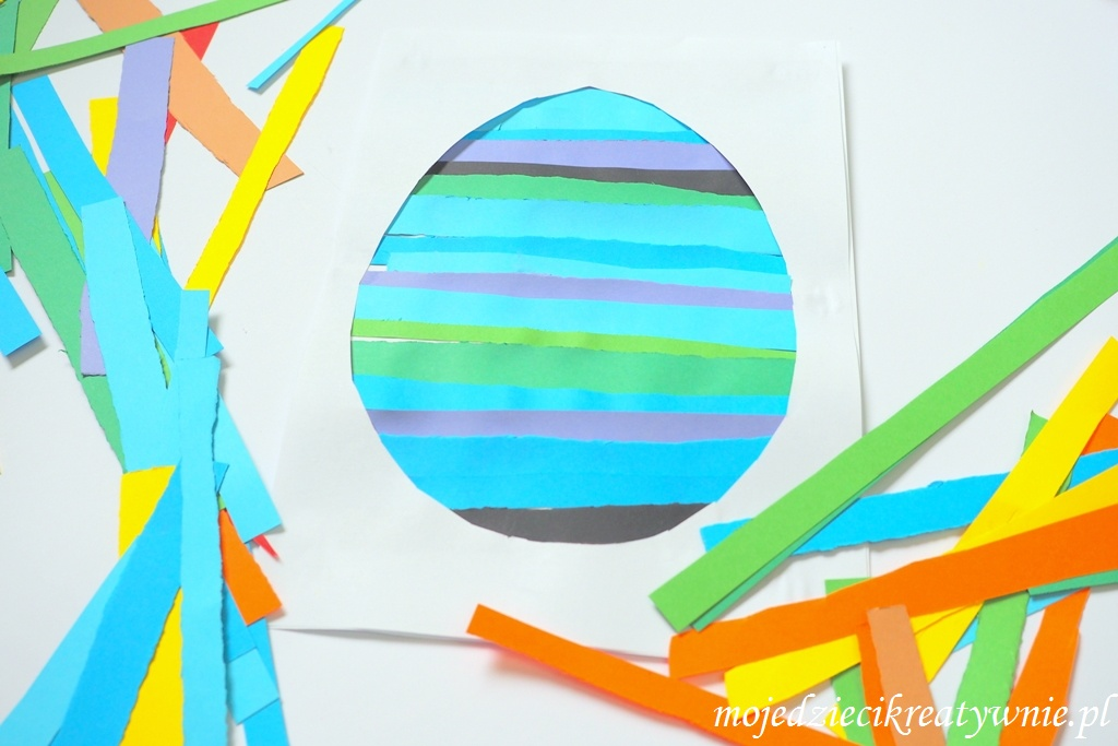 kolorowa pisanka praca plastyczna wielkanoc wiosna prace plastyczne przedszkole