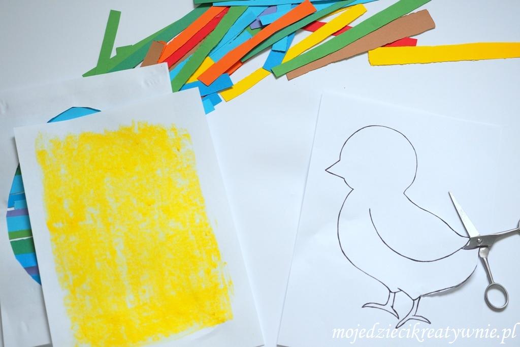 szablon kurczaka do druku prace plastyczne wielkanoc kurczak