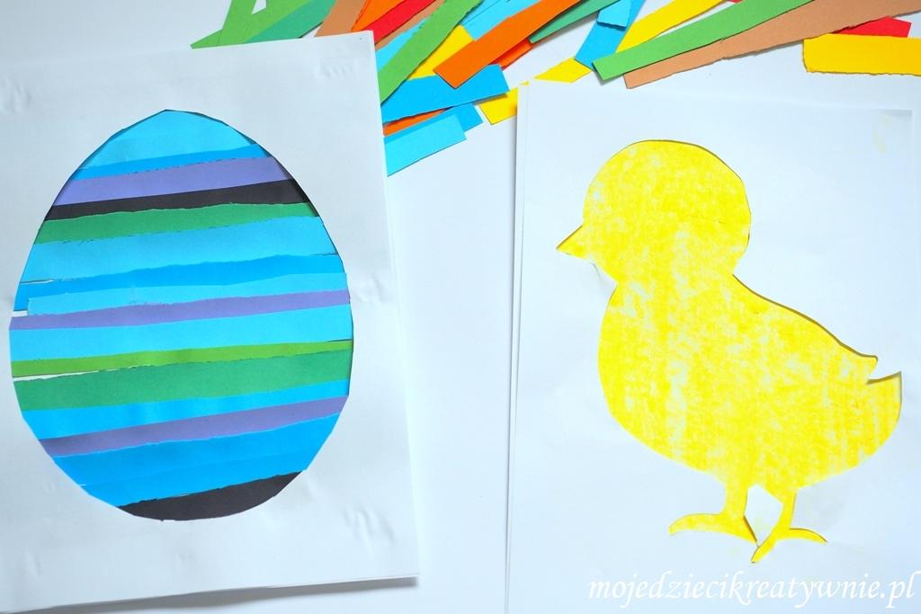 wielkanocne prace plastyczne wielkanoc pisanka jajako kurczak zajac przedszkole