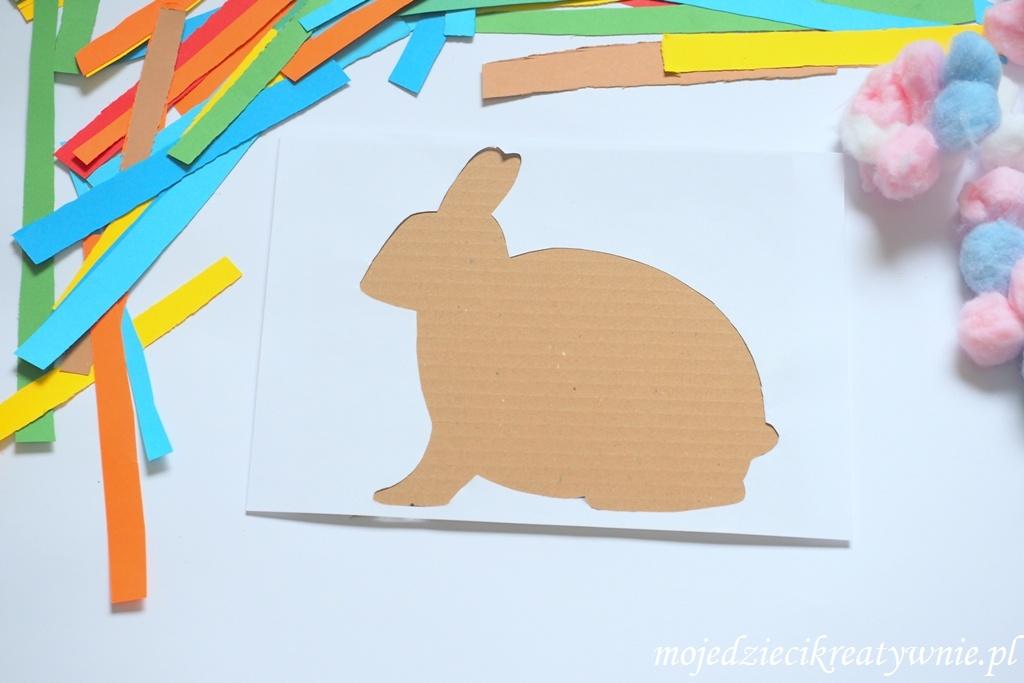 szablon zajaca do druku przce plastyczne wielkanoc wiosna baranek zajac