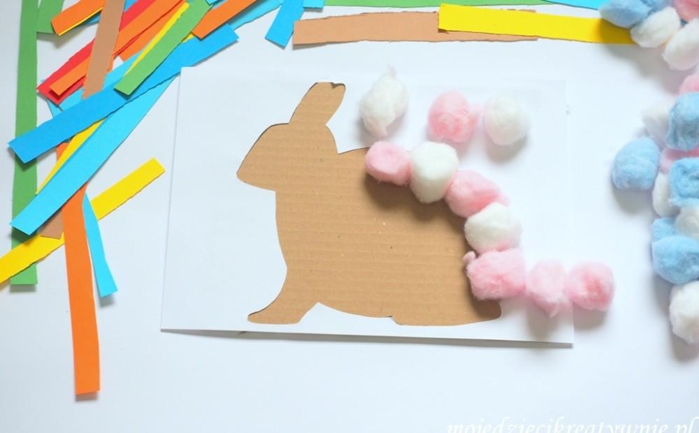 wielkanocne prace plastyczne zajac wielkanoc wiosna