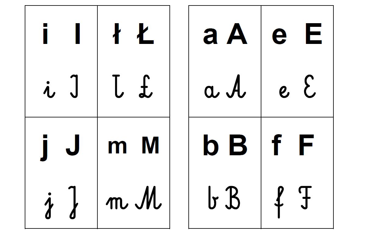 Alfabet Do Druku Karty Moje Dzieci Kreatywnie