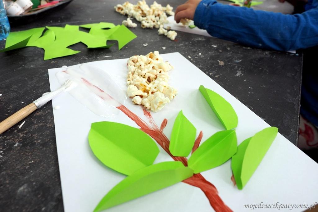 kwiaty bzu praca plastyczna