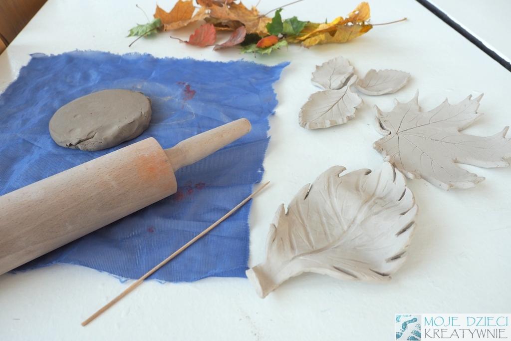 jak zrobic liscie z gliny lub masy solnej