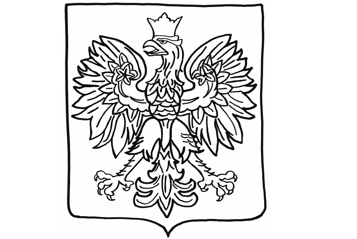 godlo polski kolorowanka