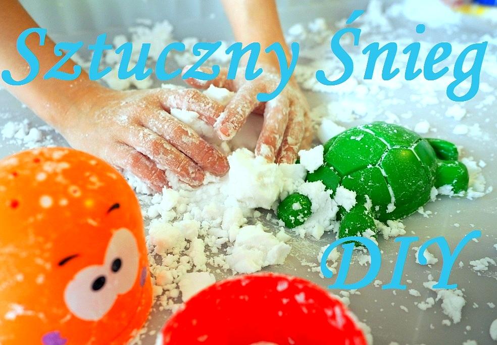 jak zrobic sztuczny snieg masy plastyczne dla dzieci diy przepisy jak zrobic domowe