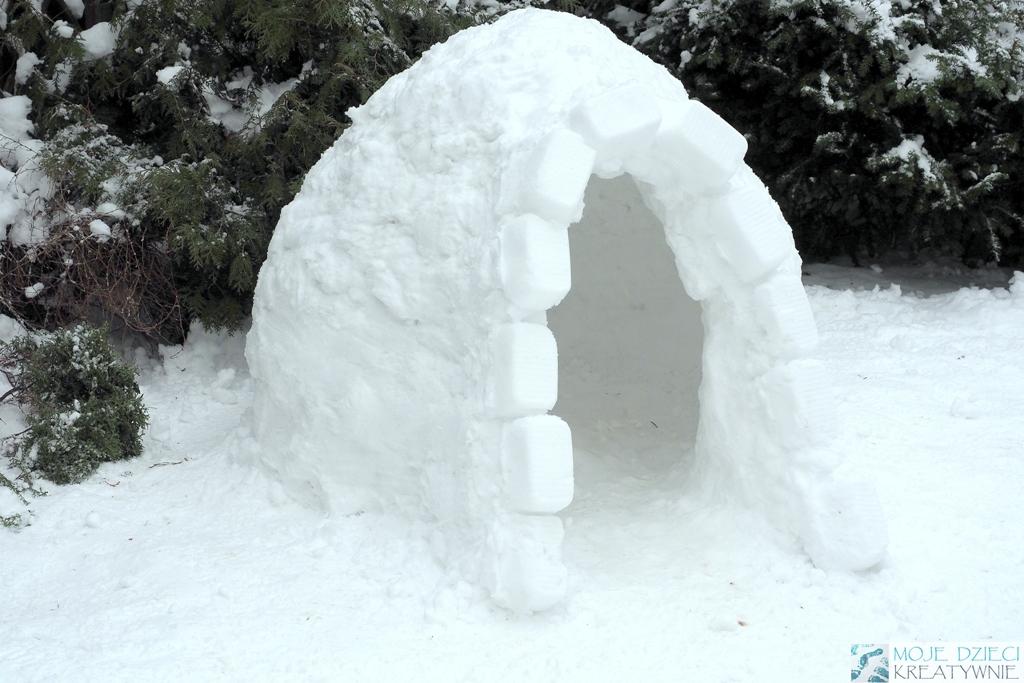 jak zrobic igloo, iglo ze śniegu, budowa igloo, jak zbudowac iglo