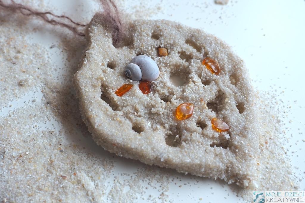 naszyjnik dla mamy z piasku