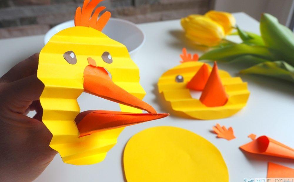 kurczak z papieru prace plastyczne wielkanoc wiosna