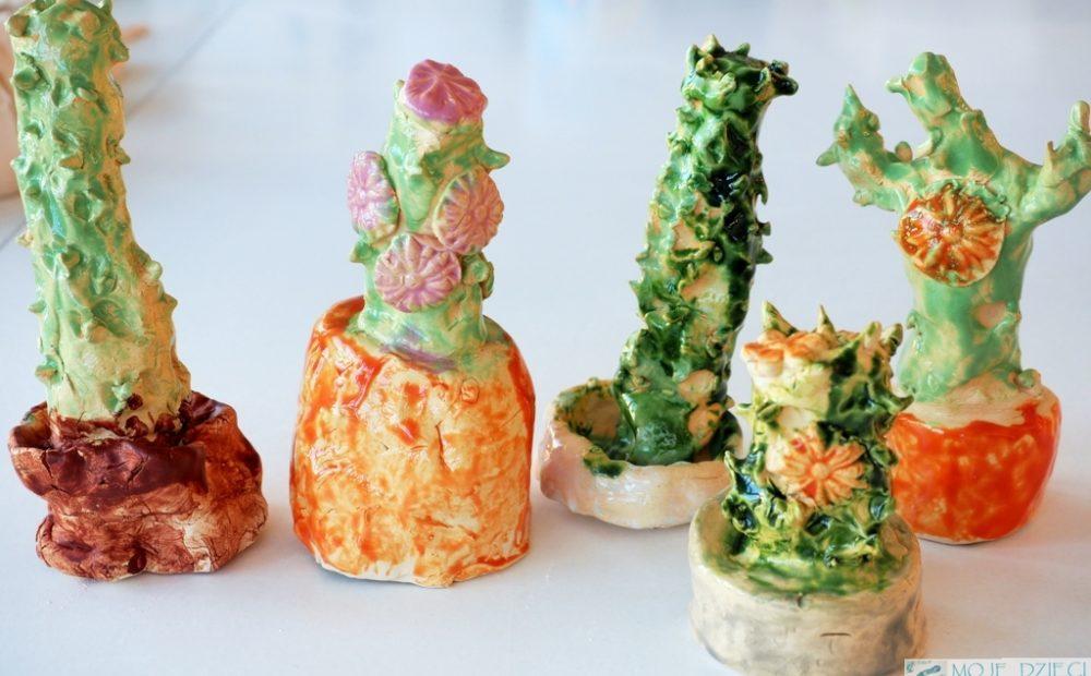 kaktusy z gliny ciekawe prace plastyczne dla dzieci
