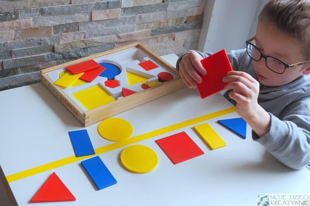 zabawy matematyczne kloci konstrukcyjne plastikowe