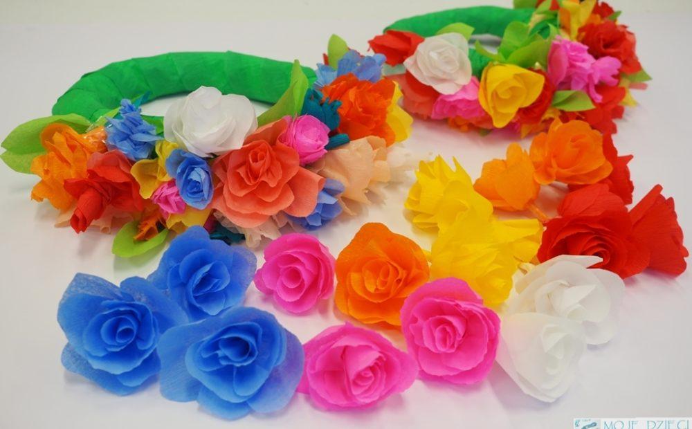 Wianek Z Kwiatów Z Bibuły Moje Dzieci Kreatywnie