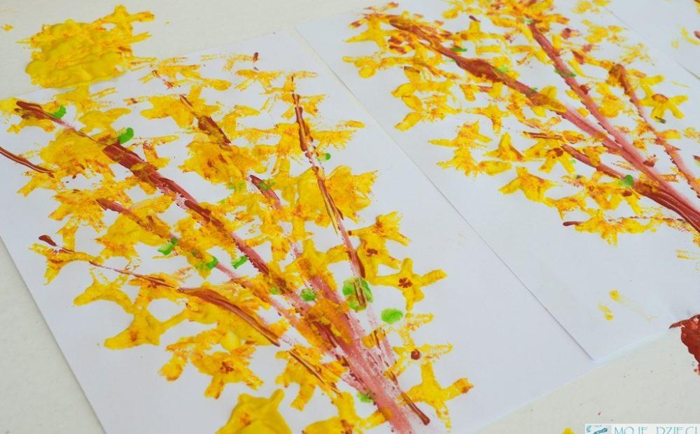 wiosenna praca plastyczna forsycja wiosna kwiaty