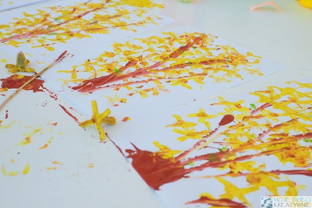 prce plastyczne w przedszkolu wiosenna praca plastyczna forsycja wiosna kwiaty prace zabawy przedszkole