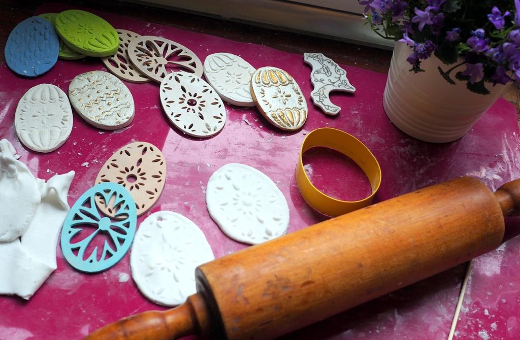 dekoracje wielkanocne wielkanoc masa porcelanowa ozdoby solna pisanki prace plastyczne