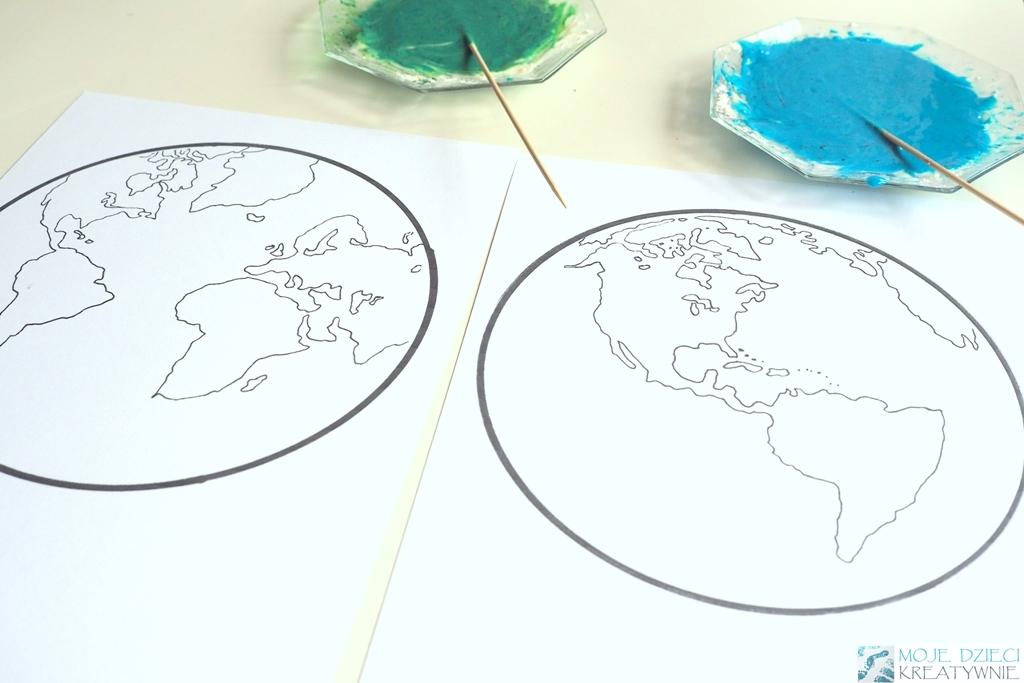 szablon ziemi do druku