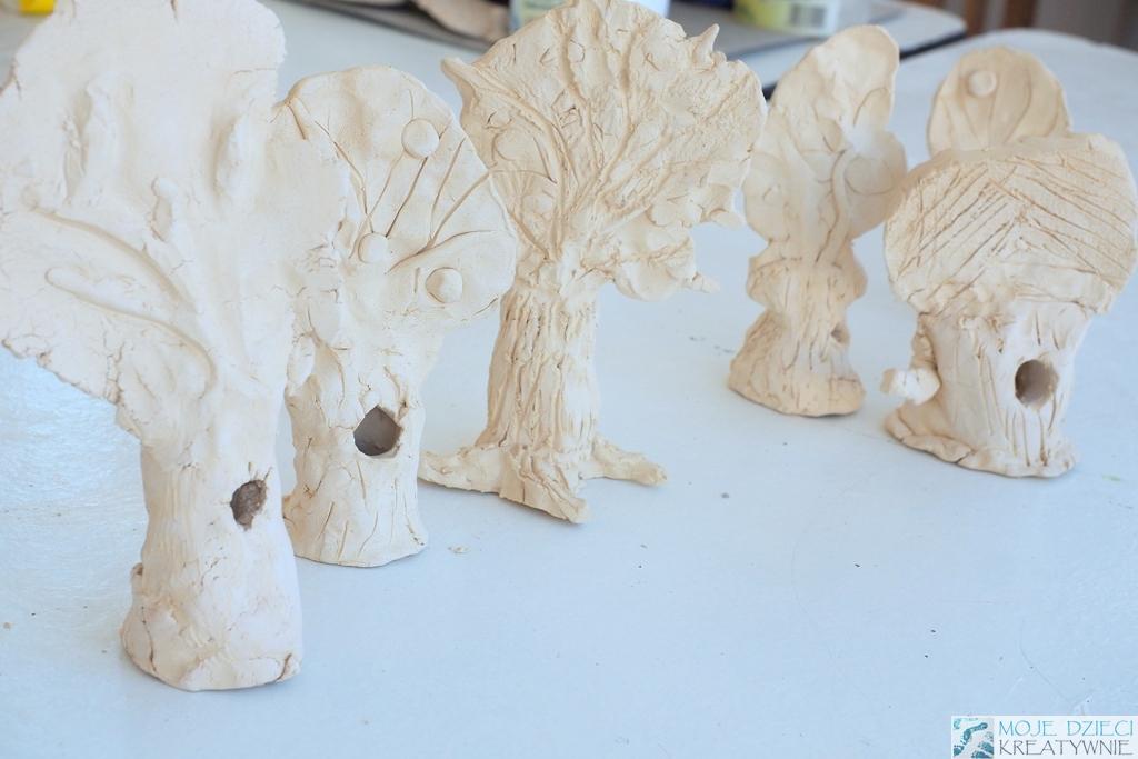 glina prace plastyczne drzewa z gliny ceramiczne prace plastyczne moje dzieci kreatywnie