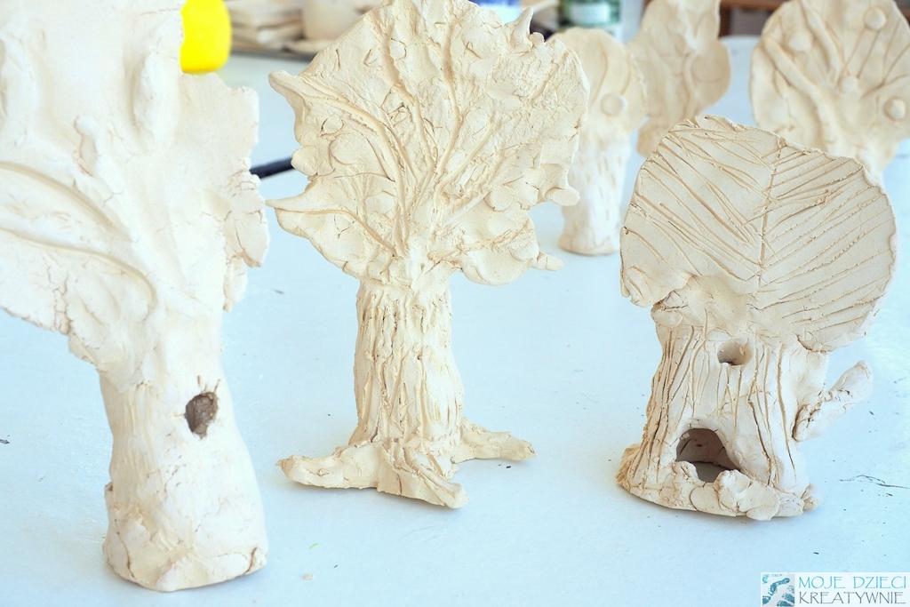 praca plastyczna z gliny drzewa z gliny ceramiczne prace plastyczne moje dzieci kreatywnie