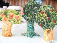 drzewa z gliny ceramiczne prace plastyczne moje dzieci kreatywnie