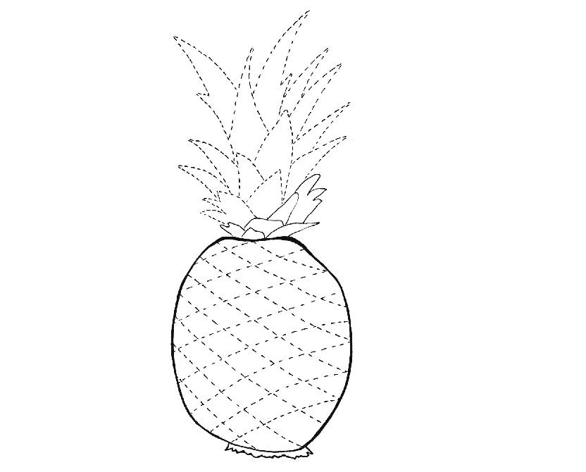 ananas kolorowanka