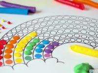 karty pracy do wylepiania plastelina tecza kolorowanka nauka kolorow praca plastyczna