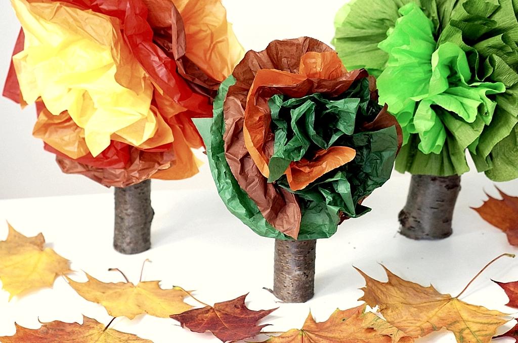drzewko praca plastyczna co mozna zrobic z bibuly