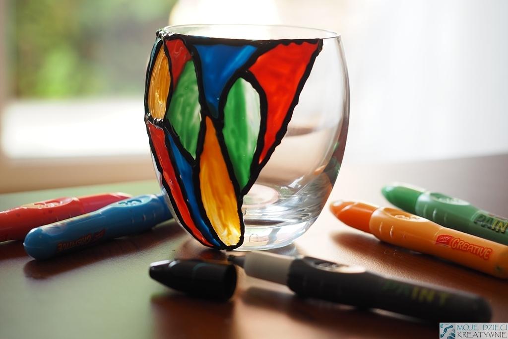 lampion ze słoika witraz farby witrazowe prezent na dzien mamy